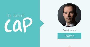"""Benoit Hamon, campagne de l'ONG """"One""""."""