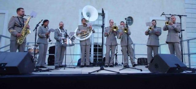 Concert de la fanfare militaire pour le festival Lesdiguières. Château de Sassenage le samedi 8 avril © Albéric Marzullo - Place Gre'net