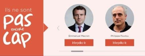 """""""Ils ne sont pas encore Cap"""", Emmanuel Macron, Philippe Poutou… © One"""