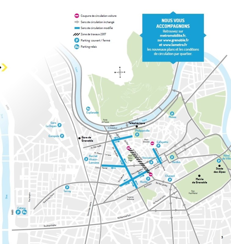 Plan de circulation adapté aux travaux. DR