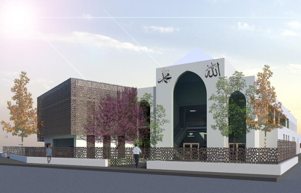 Le projet de mosquée qui serait construite à Teisseire. © AMU