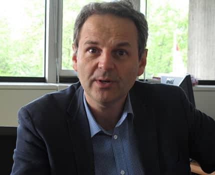 Vincent Fristot, adjoint à l'urbanisme, au logement et la transition énergétique de la Ville de Grenoble. © Séverine Cattiaux – Place Gre'net
