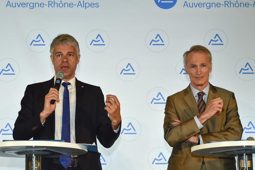 Laurent Wauquiez et Jean-Dominique Sénard, coprésidents de l'agence. © Conseil régional Auvergne-Rhône-Alpes