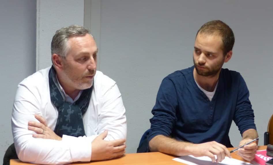 Olivier Gastineau, consultant RH et Martin Grange, président AIESEC, lors du lancement du CV citoyen.