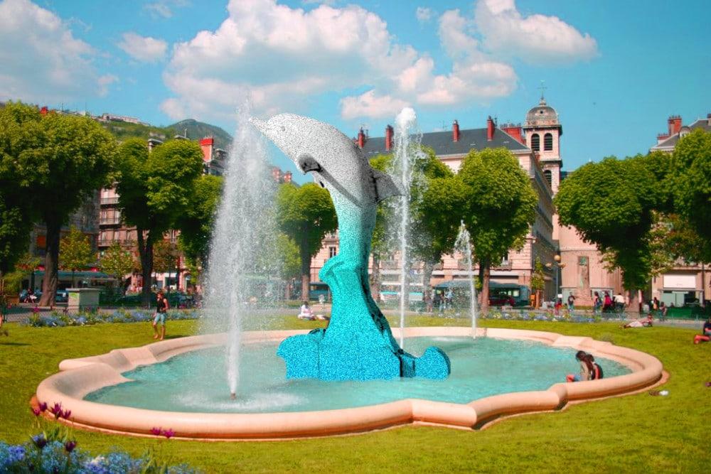 Un « dauphin baromètre » au coeur de Grenoble ? DR