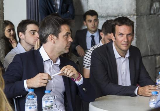 Nicolas KADA, candidat EELV et Olivier Véran candidat de la République en marche, législatives 2017, Grenoble © Chloé Ponset - Place Gre'net