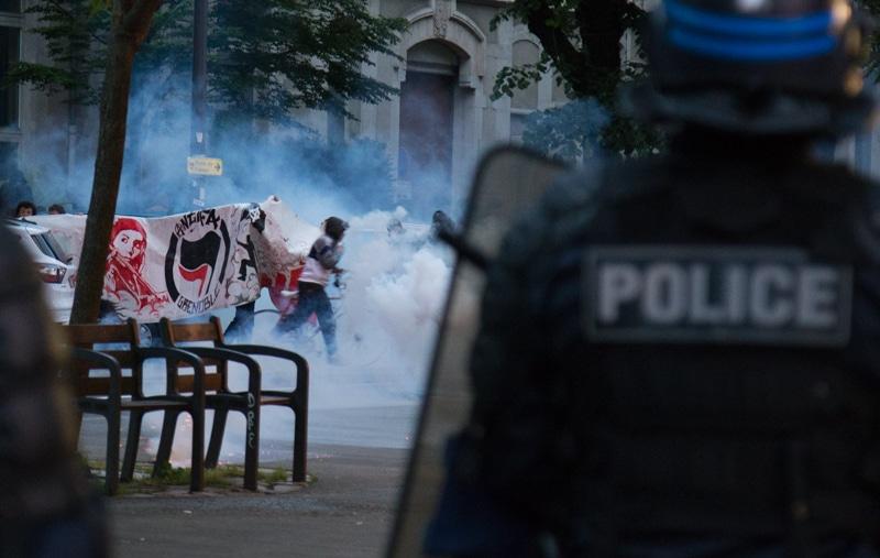 Manifestation lors de la soirée de deuxième tour de l'élection présidentielle. © Yuliya Ruzhechka - Place Gre'net