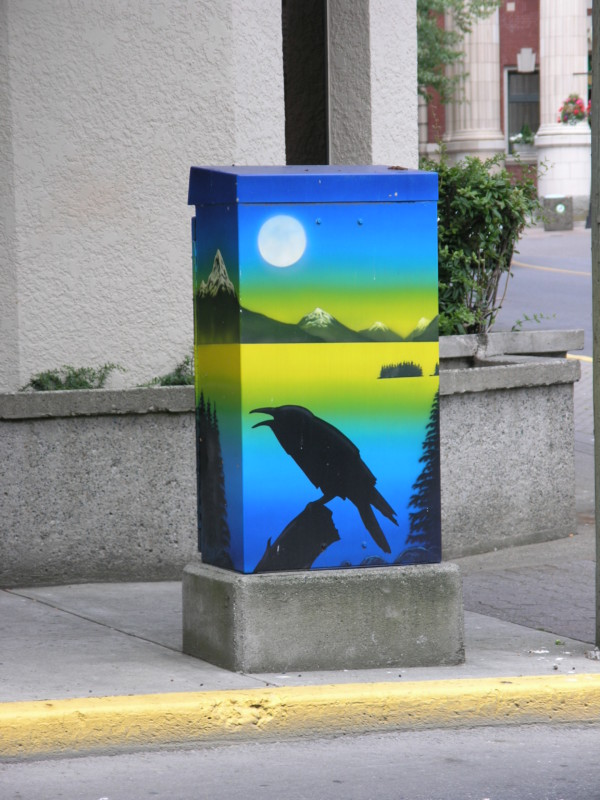 Un exemple de transformateur électrique transformé en oeuvre d'art, ici à Nanaimo (Canada). Demain à Grenoble ? DR