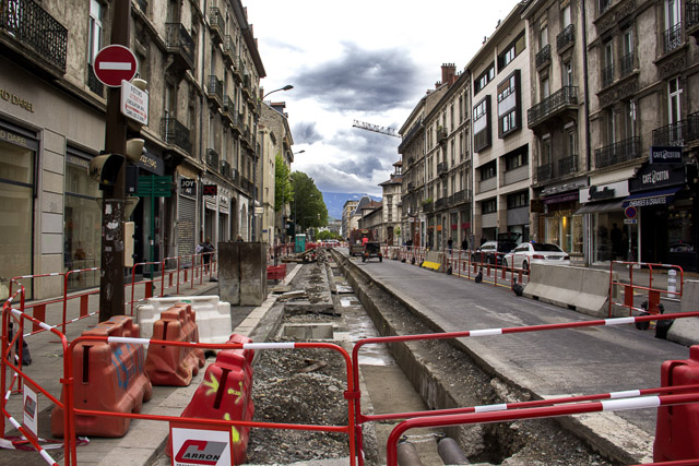 Travaux dans le centre ville de Grenoble en 2017 © Chloé Ponset - Place Gre'net