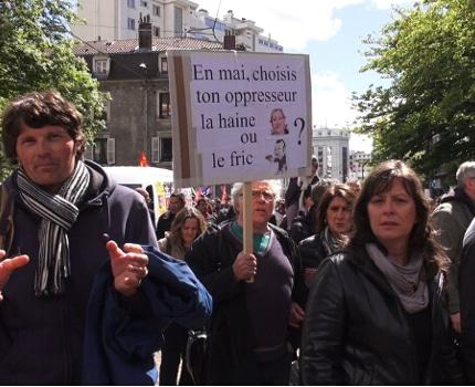 Plusieurs milliers de manifestants ont défilé à Grenoble pour la fête du travail ce 1er mai à l'appel de l'intersyndicale CGT, FSU, Solidaires, Unef et UNL.