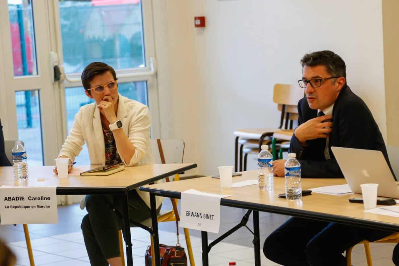 Débat public : Caroline Abadie et Erwann Binet, deux concurrents pro-Macron ? DR