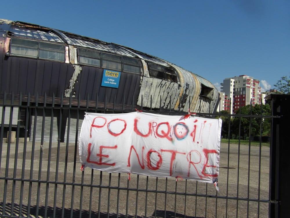 L'incendie du collège Lucie-Aubrac, un coût inattendu pour le Département © Place Gre'net