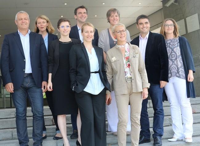 Les candidats En marche au complet. Sur les dix, un seul n'a pas été élu député : le maire de Seyssins Fabrice Hugelé (à gauche).