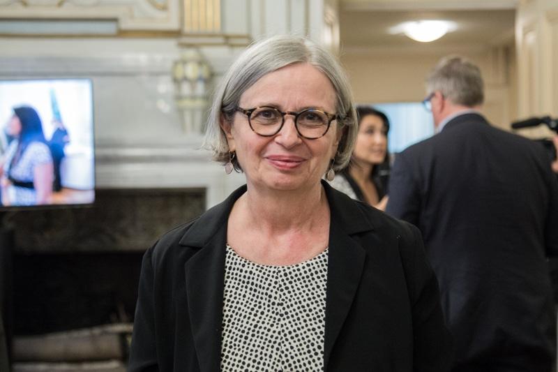 Mireille d'Ornano, conseillère municipale d'opposition à Grenoble et députée européenne Les Patriotes, anciennement Front National © Yuliya Ruzhechka - Place Gre'net