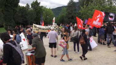 Manifestation contre l'extrême droite à Grenoble. © Joël Kermabon - Place Gre'net