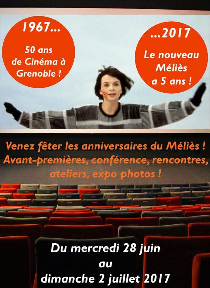 Le cinéma Méliès de Grenoble fête un double anniversaire : les 50 ans de son existence, et les cinq ans de sa présence à la Caserne de Bonne.