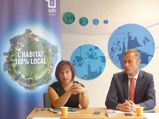 Patricia Dudonné aux côté de Bertrand Converso, respectivement directrice et président de la SDH. © Giovanna Crippa – Place Gre'net
