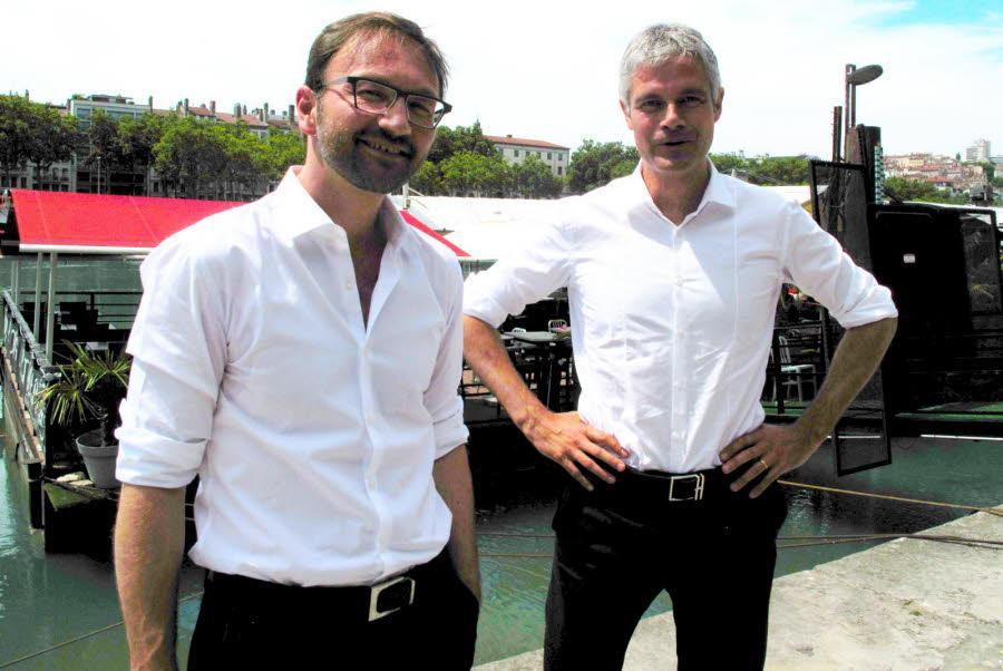 Patrick Mignola aux côtés de Laurent Wauquiez. Ancien vice-président de la Région, le désormais député de la Savoie critique les « positions droitières » du patron des Républicains. DR