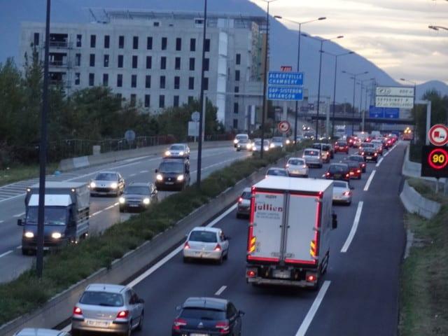 L'A480 facilement encombrée à certaines heures de la journée. © Manuel Palvard - Place Gre'net