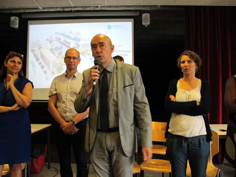 Lionel Vernet proviseur du lycée Mounier, juin 2017. © Séverine Cattiaux - Place Gre'net