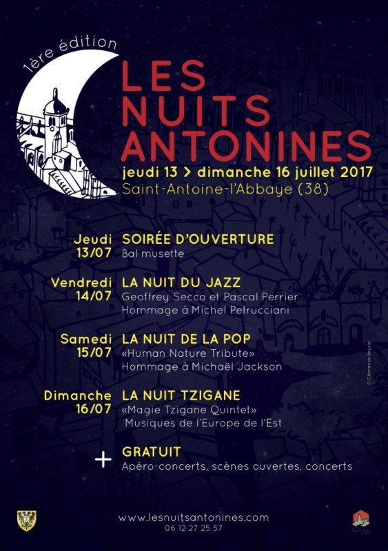 Saint-Antoine-L'Abbaye accueille les Nuits Antonines, première édition d'un nouveau festival aussi ambitieux que sa programmation est éclectique.