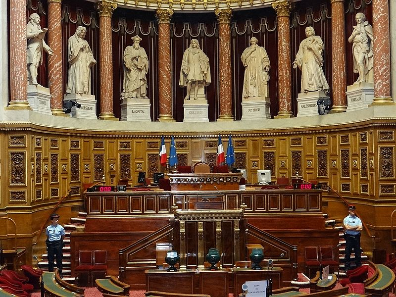 Salle du Sénat, Palais du Luxembourg. DR