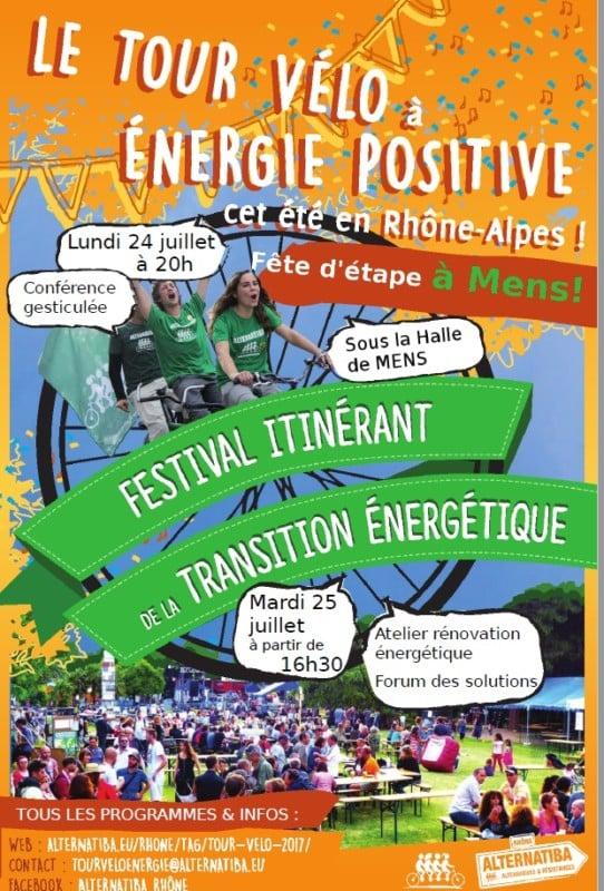 Avant de se conclure à Grenoble, le Tour vélo à énergie positive organisé par Alternatiba Rhône s'arrêtera dans le Trièves pour deux jours de festivités.