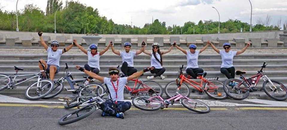 L'équipe féminine arménienne des 24 Heures vélo du Mans. © Ville de Grenoble