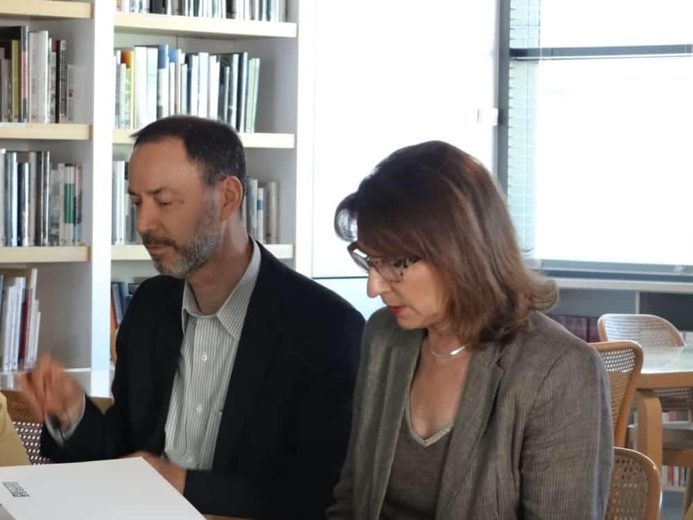 Guy Tosatto et Pascale Galliard, durant la présentation de Musée en Musique 2017-2018 © Musée en musique