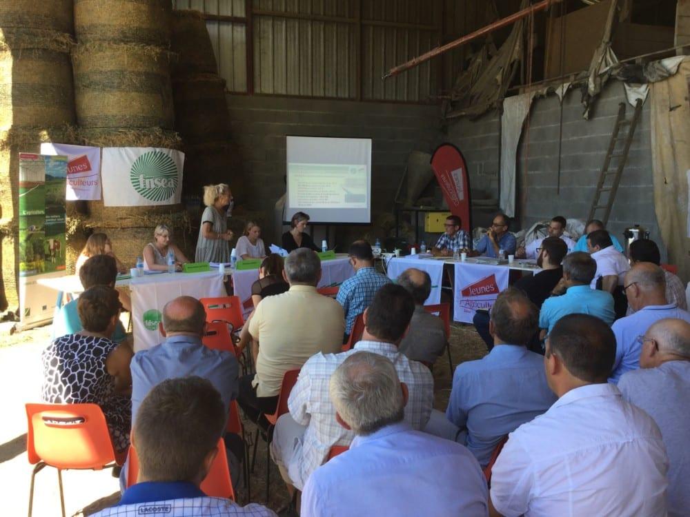 Rencontre entre parlementaires de l'Isère et syndicats agricoles le vendredi 4 août 2017 © FDSEA