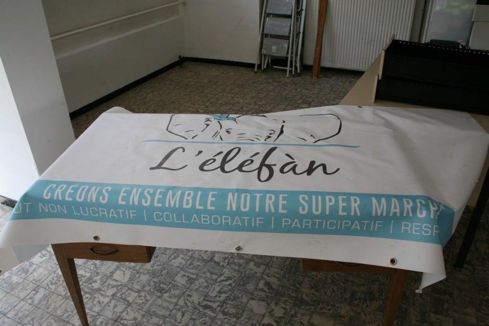 La banderole est déjà prête pour l'ouverture © Florent Mathieu - Place Gre'net