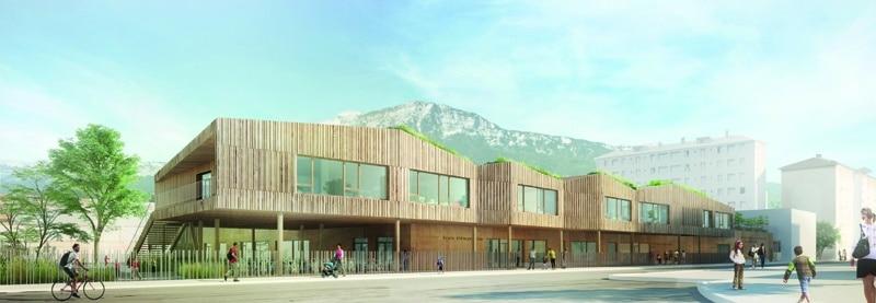 Future école Flaubert (nom provisoire) - vue Georges Sand © Ville de Grenoble et Roda