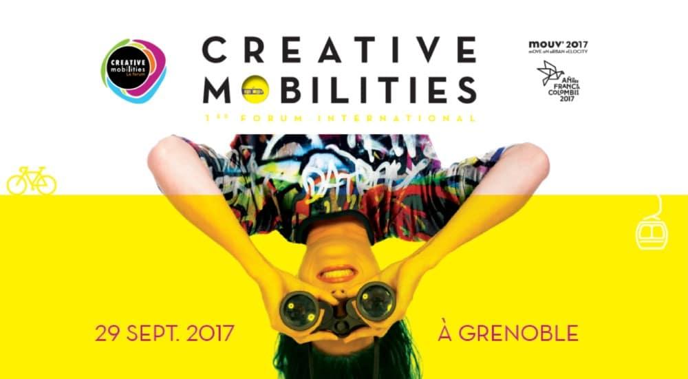 Affiche du forum Creative Mobilities. DR