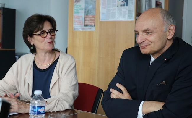 Marie-Christine Dokhelar, présidente de la CRC Auvergne Rhône-Alpes et Didier Migaud, premier président de la Cour des comptes.