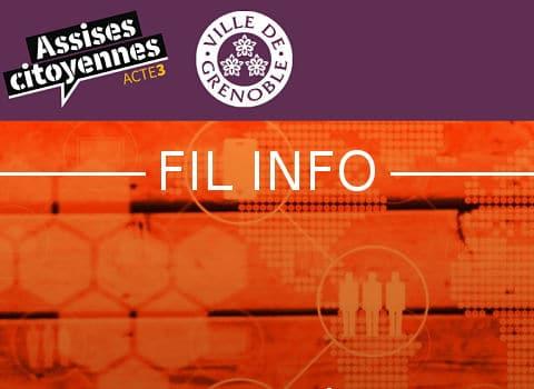 FIL Assises citoyennes acte 3 : place aux jeunes, organisées par la Ville de Grenoble, les mercredi 20, vendredi 22 et samedi 23 septembre 2017.