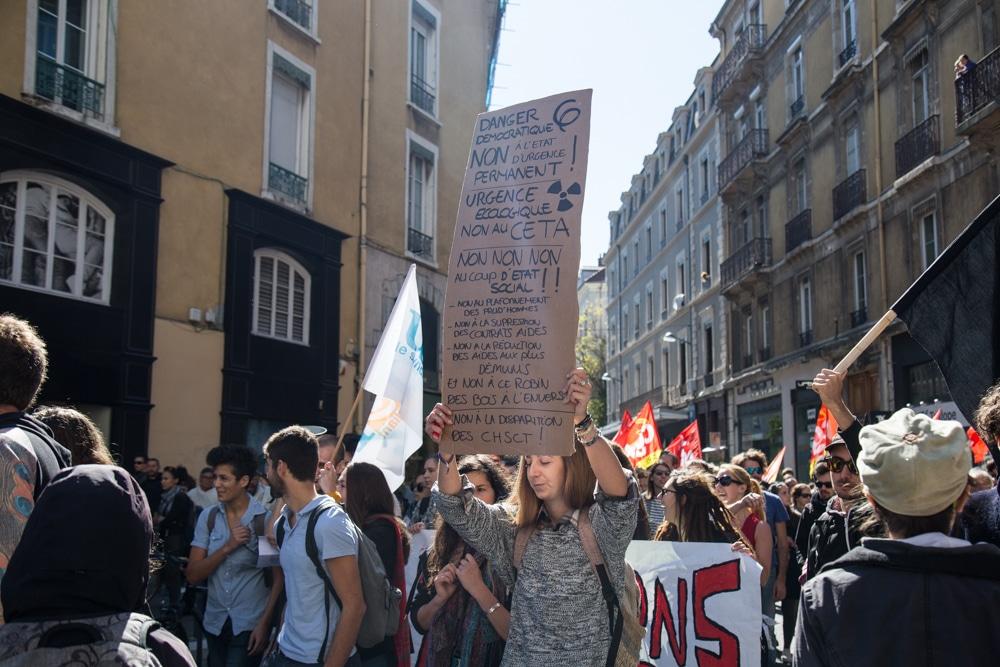 Manifestation contre les ordonnances Macron, 21 septembre 2017. © Yuliya Ruzhechka - Place Gre'net