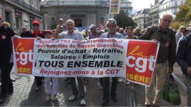 Plus d'un millier de retraités en colère ont manifesté dans les rues de Grenoble ce jeudi 28 septembre. En cause, l'augmentation de 1,7 point de la CSG.© Joël Kermabon - Place Gre'net