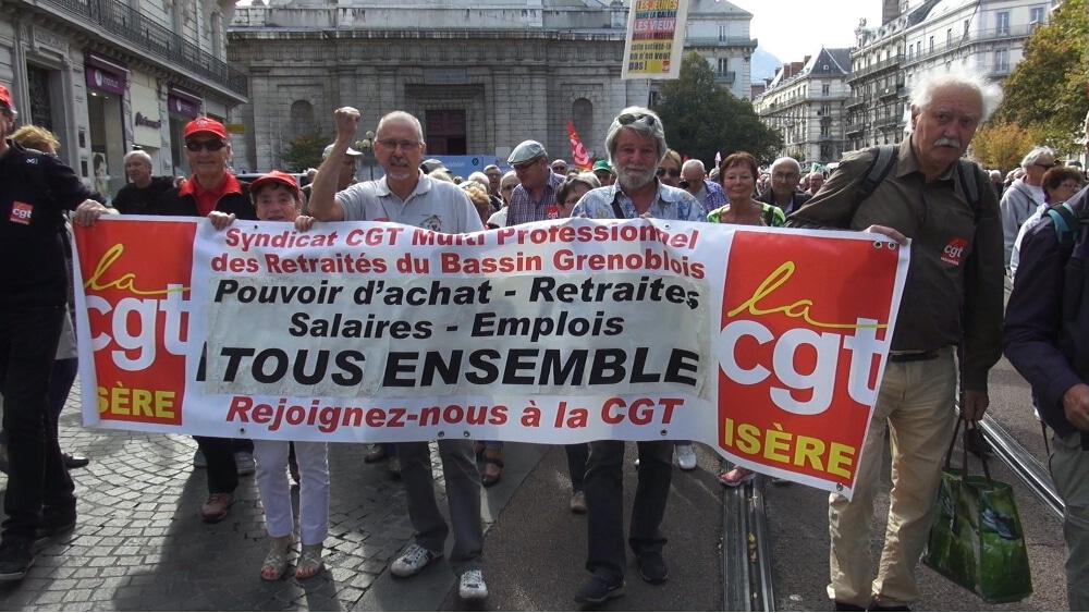 Manifestation de retraités en septembre 2017 © Joël Kermabon - Place Gre'net