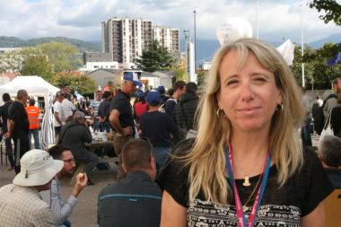 Nadine Boux, secrétaire du CE GE Hydro. © JOël Kermabon - Place Gre'net
