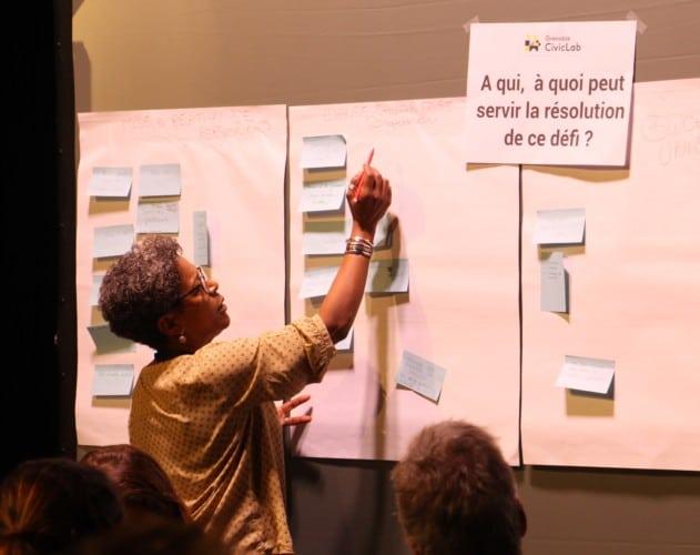 Réflexions autour d'un projet de conciergerie de quartier durant la première édition du Grenoble CivicLab © Anaïs Mariotti - Place Gre'net