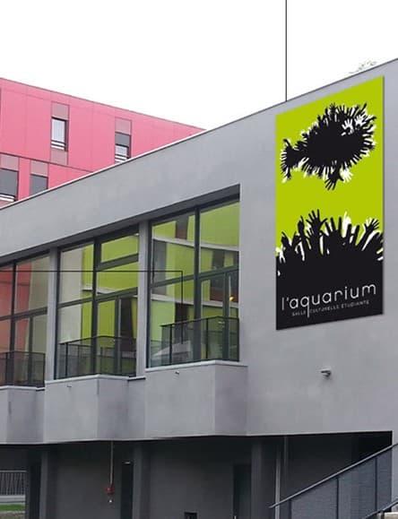 La salle de l'Aquarium, sur le campus de Saint-Martin d'Hères. © Crous de Grenoble