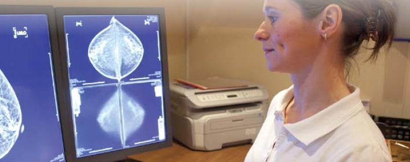 Diagnostic radiologique. © Leti / CEA Tech Vers une meilleure détection du cancer du sein ? Les détecteurs spectrométriques du CEA Leti permettent de distinguer clairement tissus sains et tumoraux.