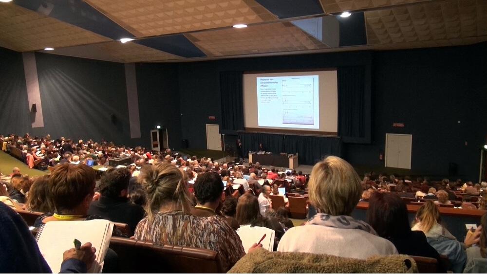 Journée scientifique de l'autisme 2017 à l'amphithéâtre Louis Weil sur le campus universitaire de Saint-Martin-d'Hères. Retour sur la journée scientifique de l'autisme qui a fait le point sur les dernières avancées scientifiques, le 20 octobre 2017 à Saint-Martin-d'Hères.© Véronique Magnin - Place Gre'net