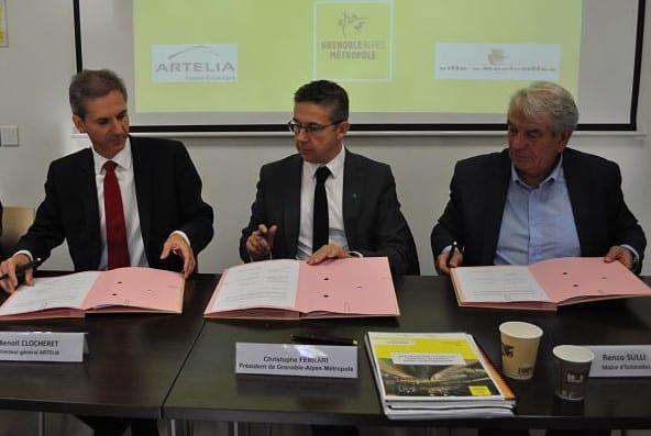 Signature protocole pour le nouveau projet urbain Echirolles