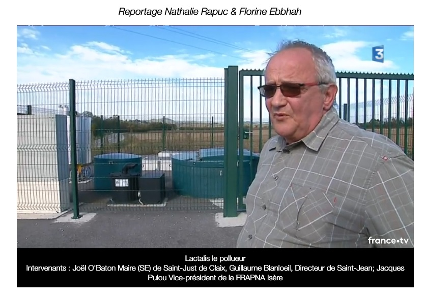 Joel O'Baton, maire de Saint-Just-de-Claix, interviewé sur France 3. « Des polémique stériles », juge Lactalis © France 3 Auvergne-Rhône-Alpes