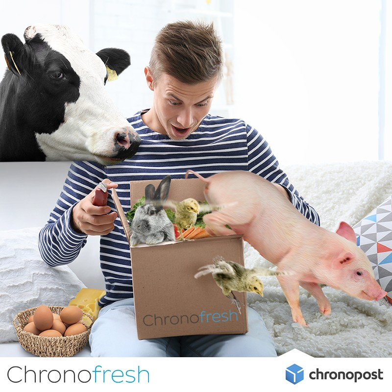 Le service Chronofresh permettra-t-il se se faire livrer vaches et cochons vivants le dimanche matin ? © Chronopost