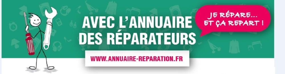 L'Ademe et les chambres de métiers et de l'artisanat lancent un annuaire en ligne des artisans réparateurs, notamment dans la région Auvergne-Rhône-Alpes.Visuel du site Annuaire-réparation. DR