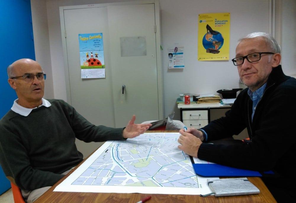 De gauche à droite, Thierry Lefebure et Frédéric Champavier © Florent Mathieu - Place Gre'net