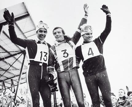 A Chamrousse, Jean-Claude Killy remporte le slalom des Jeux olympiques de 1968. Photo Photopress / Yves Bobin. © Chamrousse