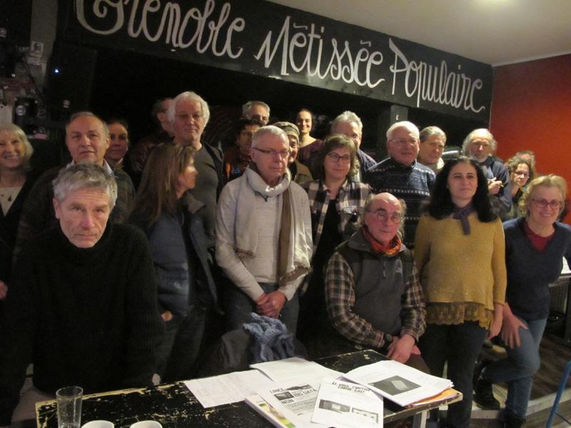Première rencontre régionale, à Grenoble, des collectifs anti-linky (le compteur communicant d'Enedis), samedi 20 janvier 2018 au café associatif L'Engrenage © Séverine Cattiaux - Place Gre'net